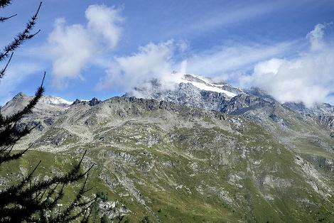 sentiero dei ghiacciai