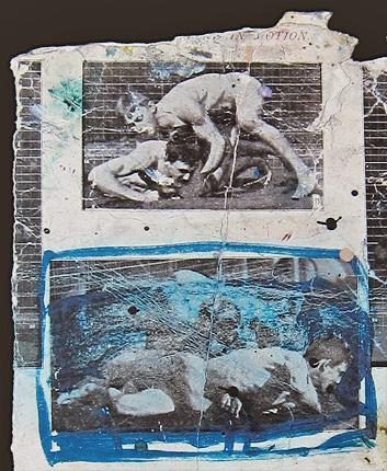 Detail of Men Wrestling by Eadweard Muybridge, found in Bacon's studio