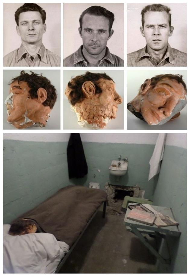 Dummy head used to fool prison guards to escape Alcatraz (1962)
