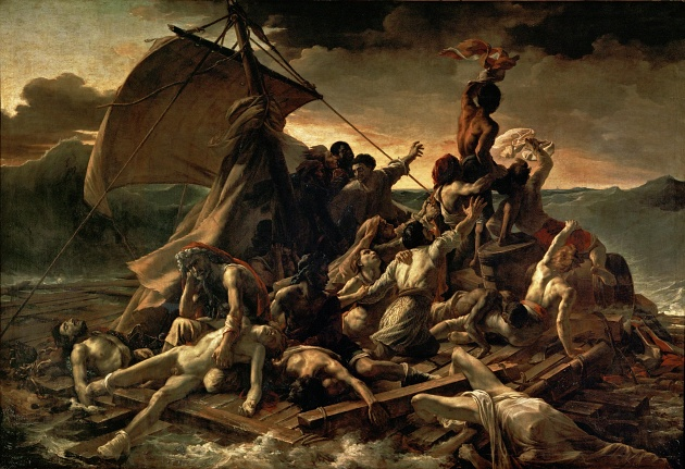 JEAN LOUIS THÉODORE GÉRICAULT - Le Radeau de La Méduse(1818-19) - essi che non vollero mai sapere, essi che ebbero occhi solo per implorare, / essi che vissero come assassini sotto terra, essi che vissero come banditi / in fondo al mare, essi che vissero come pazzi in mezzo al cielo,