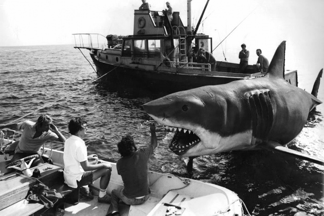 Steven Spielberg - Jaws (1975)  - Photographed by Louis Goldman © Zanuck/Brown Productions, Universal Pictures, Cal Acord/Courtesy of Moonrise Media. Intended for editorial use only. All material for educational and noncommercial purposes only