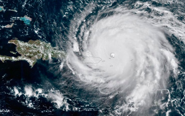 NASA/NOAA GOES Project - Hurricane Irma on Saturday (Sept. 9) at 10:37 a.m. EDT (1437 GMT)