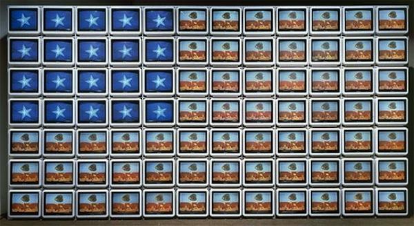 Nam June Paik_Video Flag Z, 1986