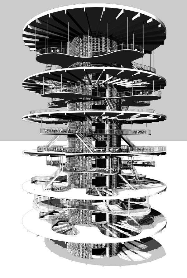 Léopold Lambert - Flaktrum Archives. Competition for (un)restricted access: the opposite of a panopticon (2012)
