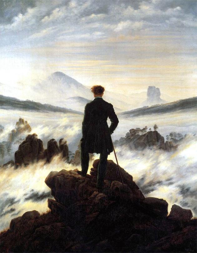 Kaspar David Friedrich - Der Wanderer über dem Nebelmeer, 1818