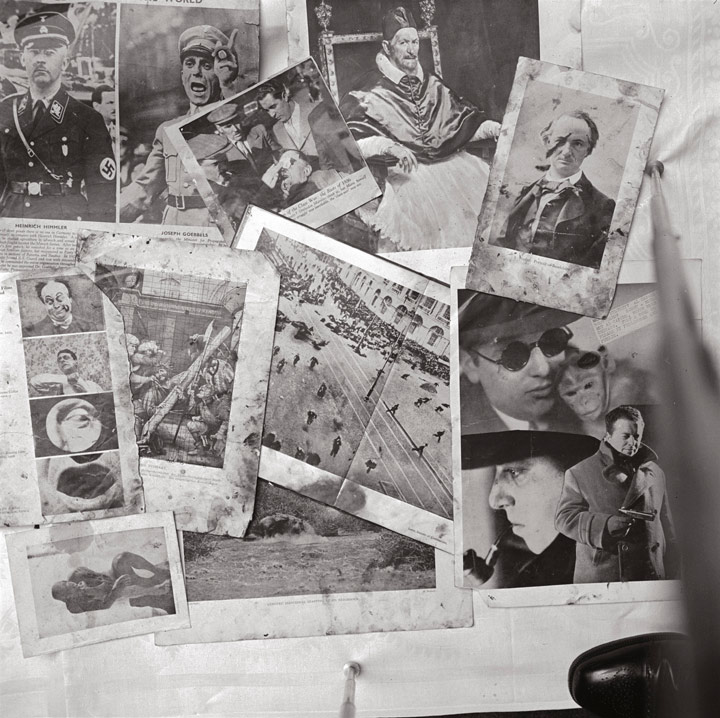 Montage of material from Bacon's Studio, 7 Cromwell Place (1950)