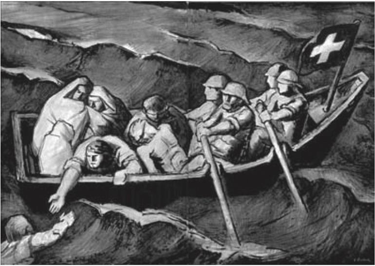 Victor Surbek - Manifesto: Das Boot ist voll (1946)