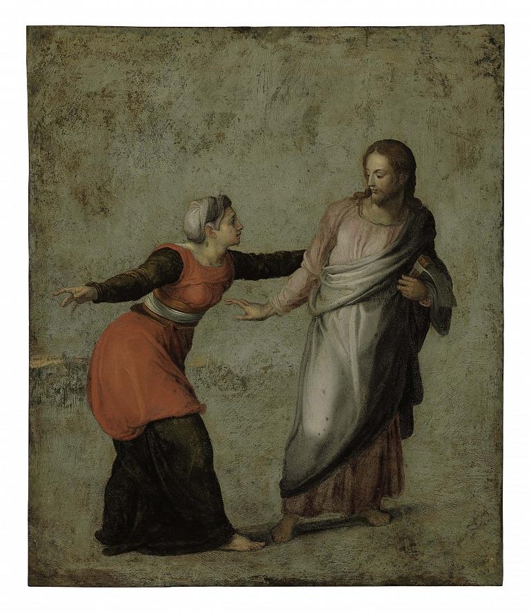 Alessandro Allori (Florence 1535-1607)  Noli me tangere  oil on copper  14 3/8 x 12 3/8 in. (36.5 x 31.4 cm.)
