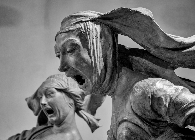 Niccolò Dell'Arca - Compianto sul Cristo morto (1463-1490) - At first I was afraid, I was petrified