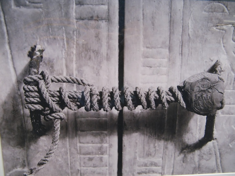 The unbroken seal on King Tutankhamon's tomb (1922) - Go on now, go, walk out the door / Just turn around now / 'Cause you're not welcome anymore