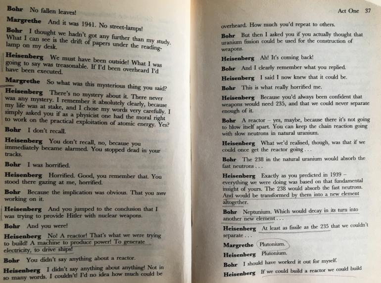 "excerpt from ""Copenhagen"" - a play by Michael Frayn (1998)"