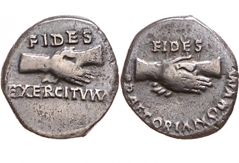 Roman Coin - Trust is a currency that acquires value if you spend it.