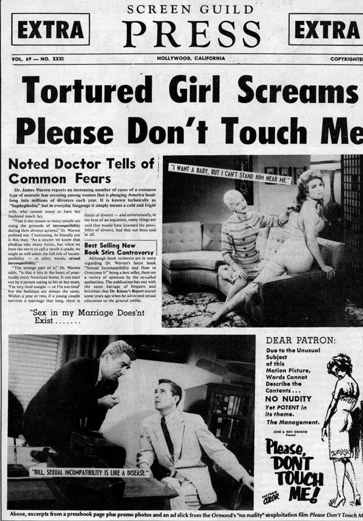 """""""Please don't touch me"""" - 1963"""